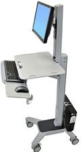 Ergotron 24-198-055 - Ergotron WorkFit-C Single LD Sit-Stand Workstation - Escritorio para estar sentado/de pie - móvil - oficina - rectangular con extremo redondeado - gris