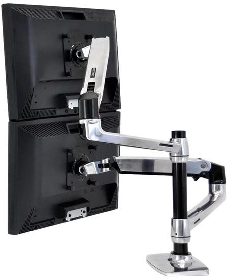Ergotron 45-248-026 LX Dual Stacking Arm - K…