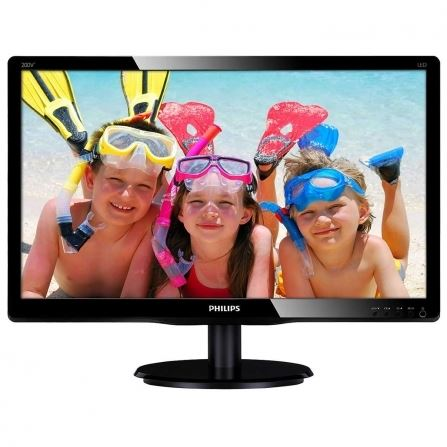 "Philips 200V4QSBR/00 - Philips V-line 200V4QSBR - Monitor LED - 20"" (19.53"" visible) - 1920 x 1080 Full HD (1080p) - MVA - 250 cd/m² - 3000:1 - 20 ms - DVI-D, VGA - con relieve negro br"