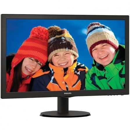 "Philips 243V5LHSB/00 - Philips V-line 243V5LHSB - Monitor LED - 23.6"" - 1920 x 1080 Full HD (1080p) - 250 cd/m² - 1000:1 - 5 ms - HDMI, DVI-D, VGA - negro con textura, cabello negro"