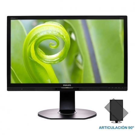 "Philips 241P6EPJEB/00 - Philips Brilliance P-line 241P6EPJEB - Monitor LED - 24"" (23.8"" visible) - 1920 x 1080 Full HD (1080p) - ADS-IPS - 250 cd/m² - 1000:1 - 5 ms - HDMI, DVI-D, VGA,"
