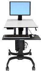 Ergotron 24-215-085 - Ergotron WorkFit-C Single LD Sit-Stand Workstation - Escritorio para estar sentado/de pie - móvil - oficina - rectangular - gris