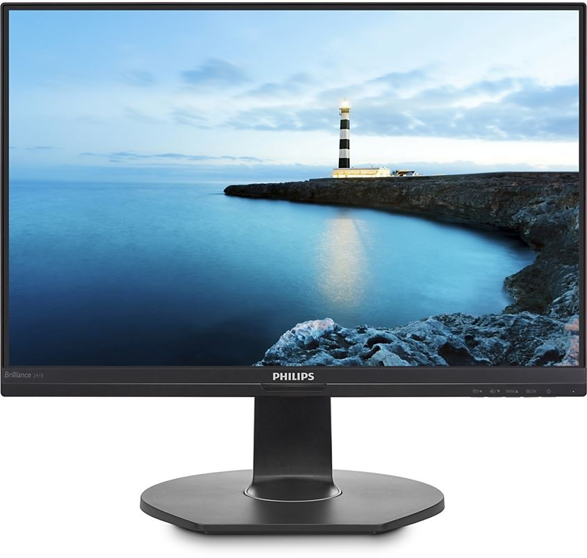 "Philips 241B7QUPBEB/00 - Philips B Line 241B7QUPBEB - Monitor LED - 24"" (23.8"" visible) - 1920 x 1080 Full HD (1080p) - IPS - 250 cd/m² - 1000:1 - 5 ms - HDMI, VGA, DisplayPort, USB-C -"