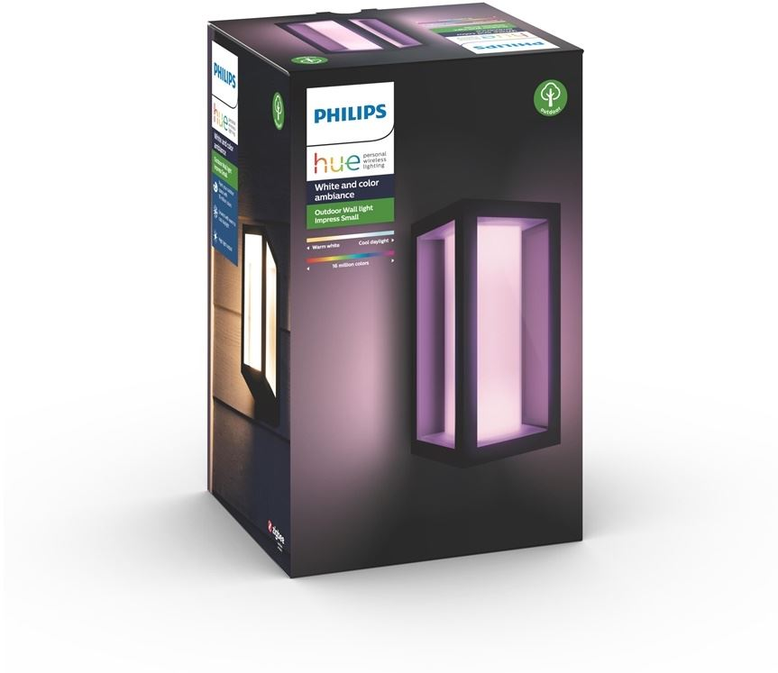 Philips 8718696170489 - Philips Hue Impress - Lámpara de pared - bombilla LED - 8 W - clase A - negro