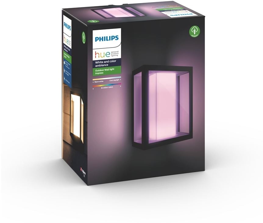 Philips 8718696170496 - Philips Hue Impress - Lámpara de pared - bombilla LED - 8 W - clase A - negro