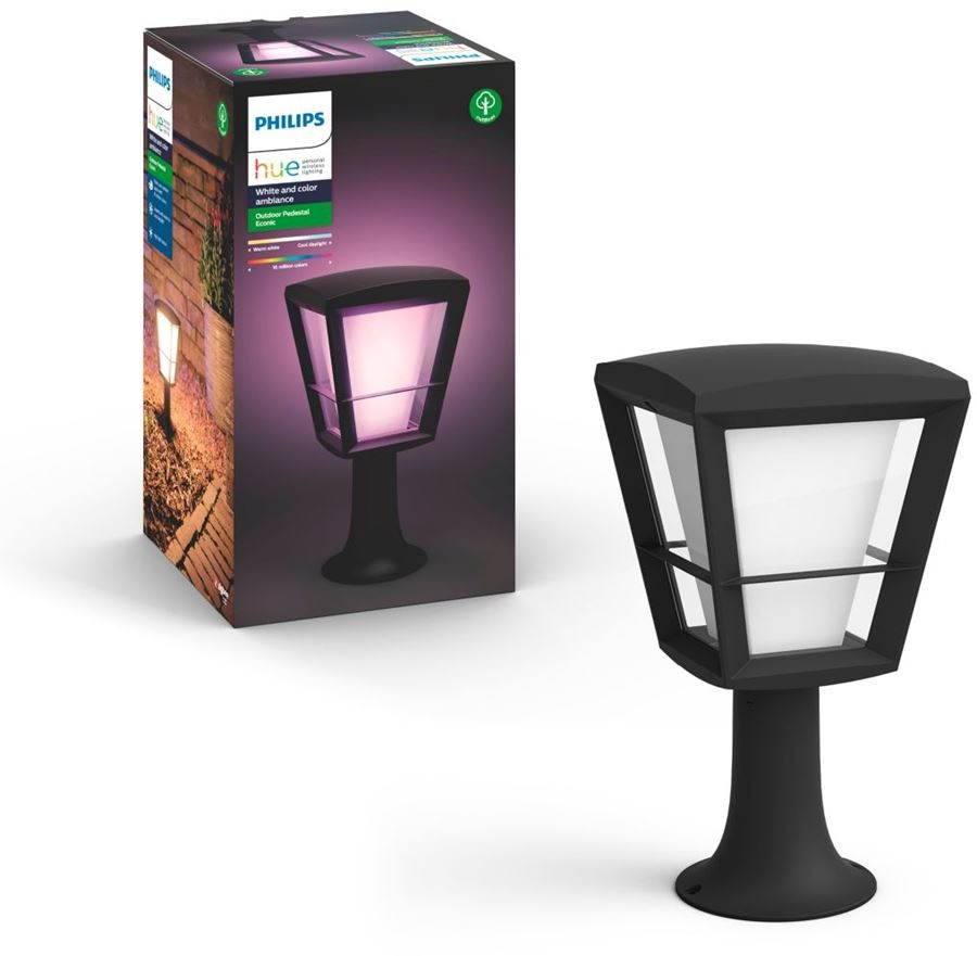 Philips 8718696170595 - Philips Hue Econic - Pedestal light - bombilla LED - 15 W (equivalente 79 W) - clase A - 2000-6500 K - negro