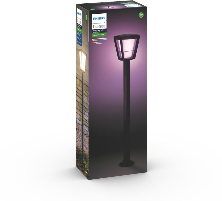 Philips 8718696170601 - Philips Hue Econic - Pedestal light - bombilla LED - 15 W (equivalente 79 W) - clase A - 2000-6500 K - negro
