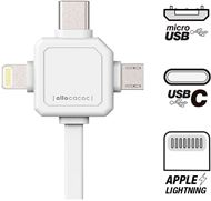 POWERCUBE 9003WT/USBC15 - Allocacoc - Cable Lightning - USB (M) a Micro-USB tipo B, Lightning, USB-C (M) - 1.5 m - wyoming white