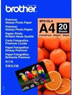 Brother BP61GLA - Brother BP 61GLA Premium Glossy Photo Paper - Brillante - 9 mm - A4 (210 x 297 mm) - 190 g/m² - 20 hoja(s) papel fotográfico brillante - para Brother DCP-155, 197, 350