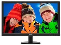 "Philips 273V5LHSB/00 - Philips V-line 273V5LHSB - Monitor LED - 27"" - 1920 x 1080 Full HD (1080p) - 300 cd/m² - 1000:1 - 5 ms - HDMI, VGA - negro con textura, cabello negro"