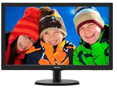 "Philips 223V5LSB2/10 - Philips V-line 223V5LSB2 - Monitor LED - 21.5"" - 1920 x 1080 Full HD (1080p) - 200 cd/m² - 600:1 - 5 ms - VGA - negro con textura, cabello negro"