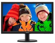 "Philips 243V5LHAB/00 - Philips V-line 243V5LHAB - Monitor LED - 23.6"" - 1920 x 1080 Full HD (1080p) - 250 cd/m² - 1000:1 - 1 ms - HDMI, DVI-D, VGA - altavoces - negro con textura, cabel"