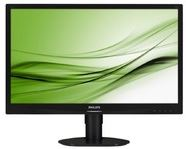 "Philips 241S4LCB/00 - Philips S-line 241S4LCB - Monitor LED - 24"" - 1920 x 1080 Full HD (1080p) - TN - 250 cd/m² - 1000:1 - 5 ms - DVI-D, VGA - negro en relieve con base negra"