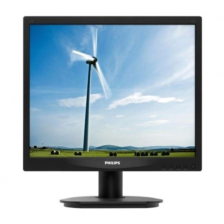 "Philips 17S4LSB/00 - Philips S-line 17S4LSB - Monitor LED - 17"" - 1280 x 1024 - 250 cd/m² - 1000:1 - 5 ms - DVI-D, VGA - negro en relieve con base negra"
