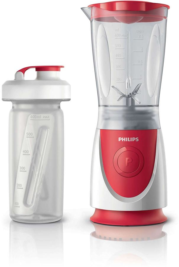 Philips HR2872/00 - Philips Daily Collection HR2872 - Licuadora - 0.6 litro - 350 W - blanco/rojo