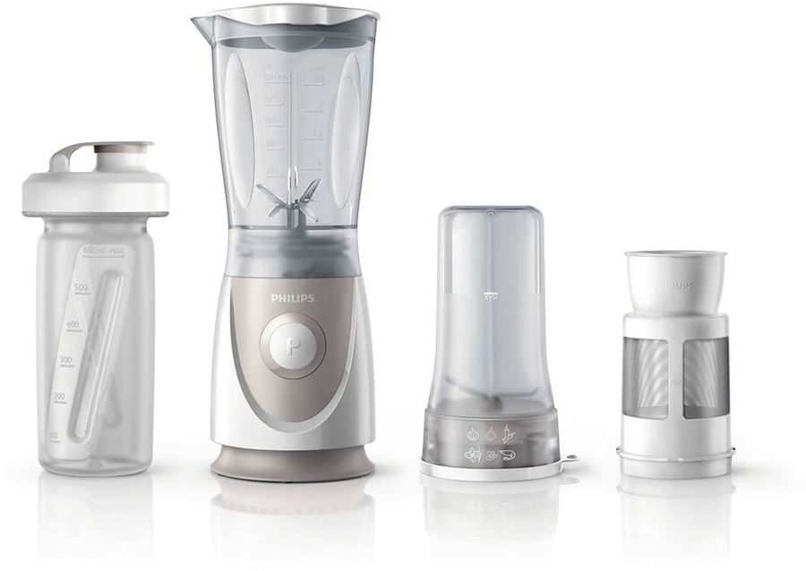 Philips HR2874/00 - Philips Daily Collection HR2874 - Licuadora - 0.6 litros - 350 W - blanco/gris