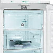 Congelador vertical aspes cav 130 blanco para tus for Congelador vertical pequeno