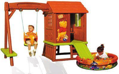 Smoby casita infantil con columpio tobog n y piscina de - Piscina infantil con tobogan ...