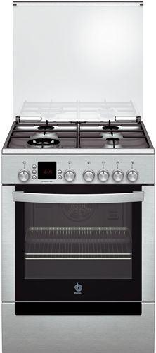 Cocina a gas balay 60 c carro extraible 4 fuegos 1 wok horno multifunci n ec2 inox - Cocinas balay gas ...
