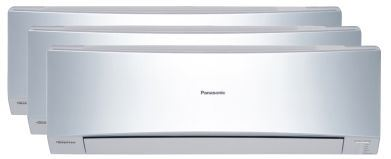 Aire Acondicionado Panasonic Etherea Multi Split 3x1 Inverter plata KIT-3XE7712-JKE
