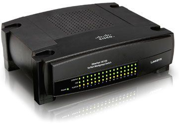 Switch no gestionable Linksys EZXS16W-EU EtherFast 10/100 Dual-Speed 16-Port Workgroup Switch - 16 puertos - Fast Ethernet 10/100 - Networking - Redes - Linksys® by Cisco