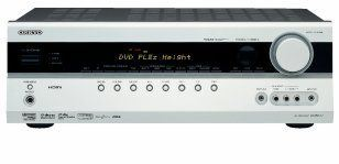 Receptor A/V Cine en casa 7.1-Channel A / V Surround Home Theater Receiver ONKYO TXSR 577 Plata