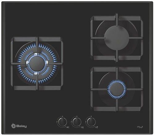 Placa de cocina balay gas con mandos cristal templado - Placa cocina gas ...