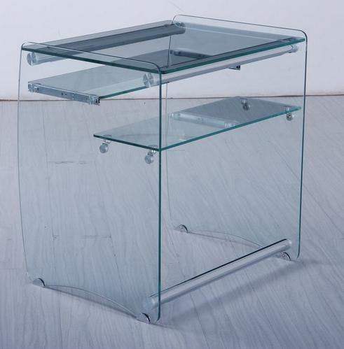 Mesa para ordenador dama dise o cristal for Diseno mesa ordenador