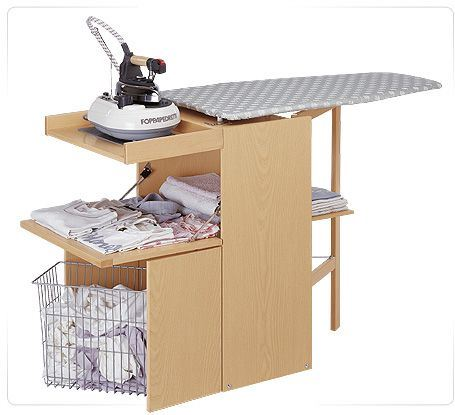 Mueble con mesa de planchar lo stiro de foppapedretti for Mesa planchar plegable