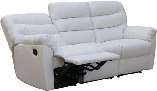 Sof 3 plazas modelo venecia de eco de reclinable - Sofa blanco polipiel ...
