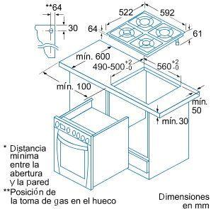 Placa de cocina balay mixta gas ciudad vitro sin mandos for Cocinas de gas ciudad