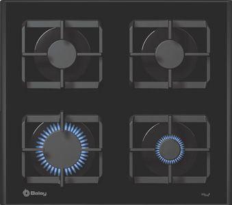 Placa de cocina balay gas natural sin mandos cristal - Placas de gas natural ...