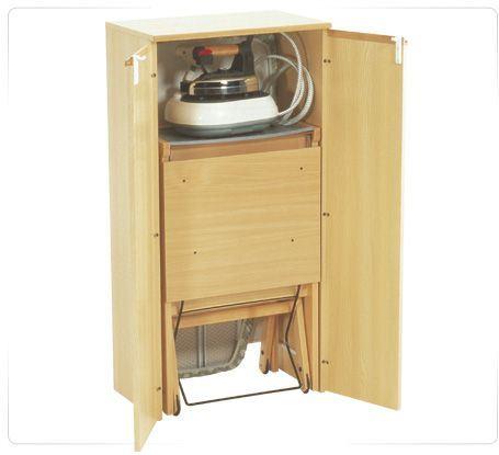 Casas cocinas mueble mueble para tabla de planchar - Mueble para guardar tabla de planchar ...