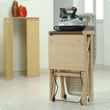 Mueble sesamo de foppapedretti para guardar tablas de planchar asso madera natural - Mueble de planchar ...