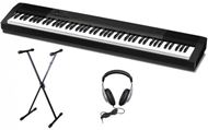 CASIO PIANO DIGITAL CDP-130 BLACK KIT CON SOPORTE DE TIJERA Y AURICULARES DE REGALO