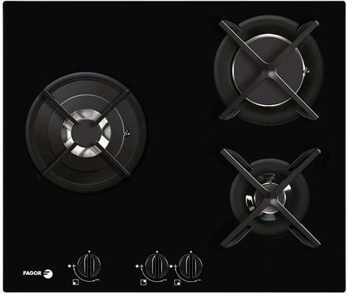 Placa de cocina gas butano crystal gas de fagor cfi 3glsta - Placas de cocina a gas butano ...