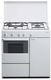Cocina con portabombonas a gas butano de aspes 4ca 40sp - Cocinas de gas butano con horno ...