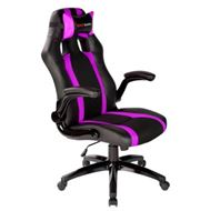 Mars Gaming MGC2BP - SILLA GAMER MARS GAMING MGC2BP COLOR NEGRO Y FUCSIA ASIENTO RECLINABLE BRAZOS ABATIBLES NYLON BASE PVC 5 ESTRELLAS 780 x 320 x 650 mm / 15 Kg