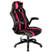 Mars Gaming MGC2BPK - SILLA GAMER MARS GAMING MGC2BPK COLOR NEGRO Y ROSA ASIENTO RECLINABLE BRAZOS ABATIBLES NYLON BASE PVC 5 ESTRELLAS 780 x 320 x 650 mm / 15 Kg