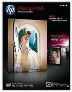 HP CR676A - HP Premium Plus Photo Paper - Papel de fotografía satinado - 130 x 180 mm - 300 g/m2 - 20 hoja(s)