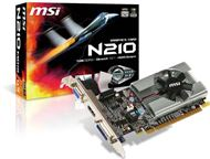 Tarjeta Gráfica GeForce 210 MSI N210-MD1G/D3H/LP - PCI Express x16 2.0 Perfil bajo, 1 GB DDR3 64 bits 1000MHz, 2560x1600, GPU 589MHz, Display Port HDMI / DVI-D / VGA, CUDA™ / PureVideo™ HD