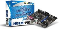Placa base MSI H61M-P21 (B3) - LGA1155 Core i7 / i5 / i3, 2 x DDR3 Dual, 16 GB RAM máx, Intel® H61 B3, M-ATX, 100MHz, PCI-E Gen2, VGA, GBLAN, 4 x SATA2, 6 x USB 2.0, Audio Flexible 8-channel