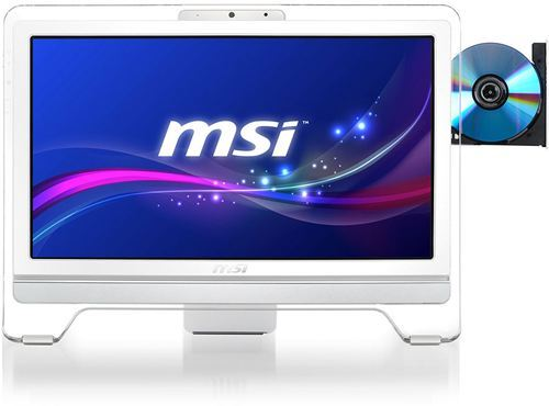 "Ordenador Sobremesa AIO MSI Wind Top AE2071 Serie Entertainment, LCD Multi Táctil 20"" 1600x900, 16:9, Dual Core G620 2.6GHz, 2GB DDR3, 500GB SATA2, Intel HD Graphics 2000, HDMI, WiFi, Blanco"