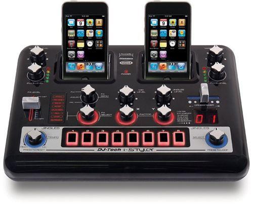 Base mesa de mezclas ipod iphone dual dj tech i styler for Mesa de mezclas dj