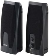 Altavoces estéreo approx 2.0 alimentación por USB - Ideales para PC/Portátil, iPod®, CD, MP3, MP4 - Color negro