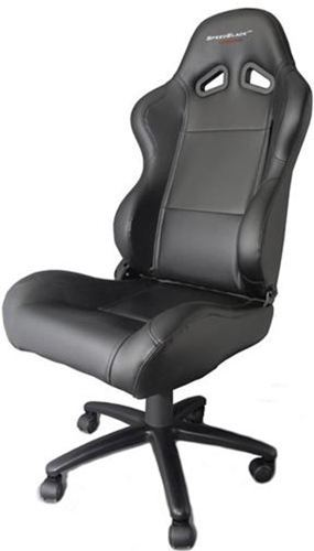 Silla de oficina gaming speedblack seat black con dise o for Silla gaming con altavoces