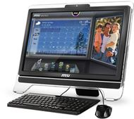 "Ordenador Sobremesa AIO MSI Wind Top AE2050 Serie Entertainment, LCD Multi Táctil 20"" 1600x900, 16:9, AMD® Dual Core E450 1.65GHz, 4GB DDR3, 500GB SATA2, AMD® Radeon™ HD 6310, HDMI, WiFi, Negro"