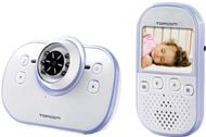 "Intercomunicador digital con cámara para bebés Topcom BabyViewer 4100 - Vigilabebés - LCD 2,4"" (6,6 cm) pantalla en color - Digital libre de interferencias 2.4 GHz - Alcance 300 m - Conexión a la TV"