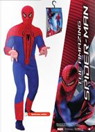 Disfraz Josman The Amazing Spiderman Adulto con capucha incluye percha y bolsa - Talla 6 - Para adultos talla 52-54