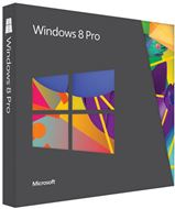 Sistema Operativo Microsoft Windows® 8 Pro · Paquete de actualización de versión · UPGRADE desde XP, Vista, Windows 7 · 1 PC · DVD · 32/64-bit · Español